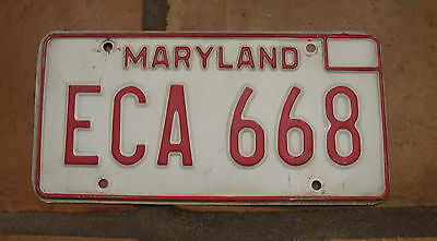 MARYLAND 1970's LICENSE PLATE ECA 668