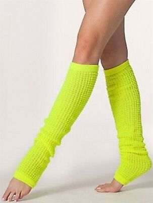 Neon American Apparel Leg Warmers