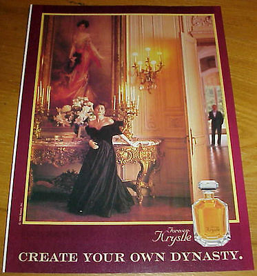 1980s FOREVER KRYSTLE PERFUME 1 Page Ad #6 #013117