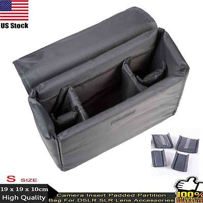 DSLR SLR Camera Canon Nikon Sony Camera Bag Insert Padded Partition Lens Bag S