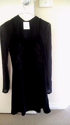 BNWT Girls Bardot Junior black dress and top Size 16