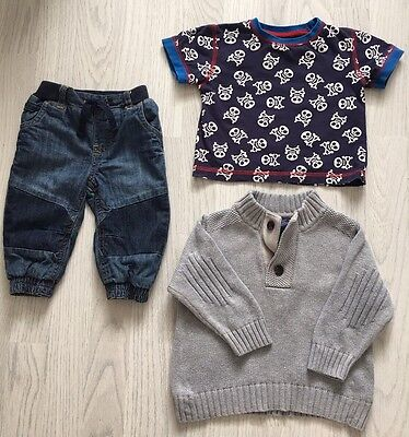 Baby Boys Clothes Outfit Bundle 6-9 Mths - Gap, Next, Mothercare