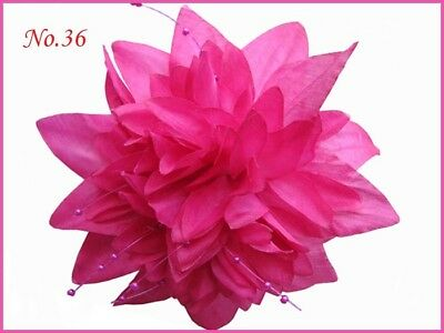 """30 BLESSING Good Girl Hair Clip 6-6.5"""" Silk Peony Lily Rose Flower 79 No."""