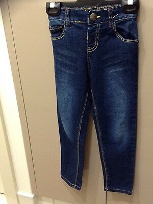 Girls Blue Denim Jeans Size 4 Brand New!