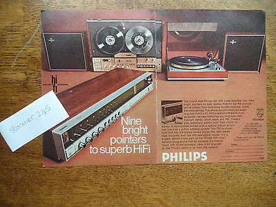 Philips  Tuner Amplifier    Scarce   Vintage  Magazine Ad  7   1   O   C