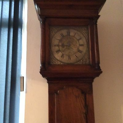 Old Longcase Clock In Elm