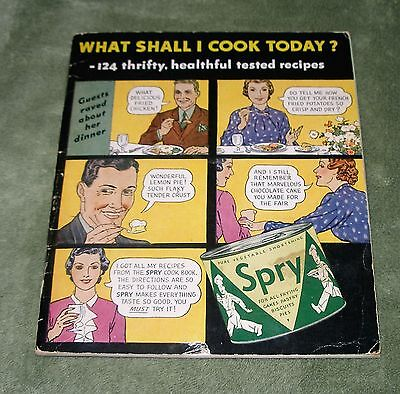 1940s SPRY Shortening Recipes CookBook Bread Cookies Cakes Pie Early Advertising