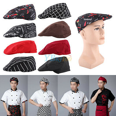 Men Women Chef Hat Catering Sushi Japanese Kitchen Duckbill Cooking Cap Adult BD