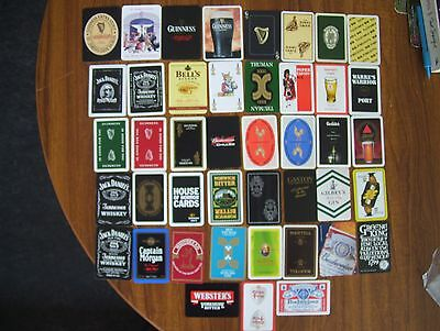 Jokers===43 Different Alcohol Related Single Joker Playing Cards.(41=New & Mint)