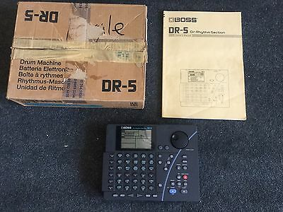 Boss DR-5 Dr. Rhythm Section with original manual and box - excellent condition