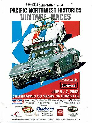 Pacific Northwest Historics Vintage Racing Program 2002 Seattle Washington