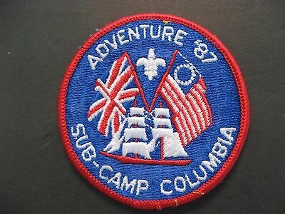 Boy Scouts Adventure '87 Sub-Camp Columbia  Embroidered Patch