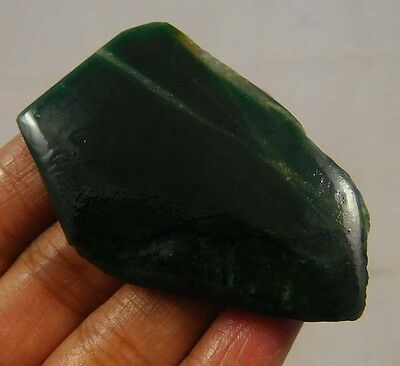 120 Cts. 100% Natural Free From Green Jade Slice Rough Minerals Specimen SNG297