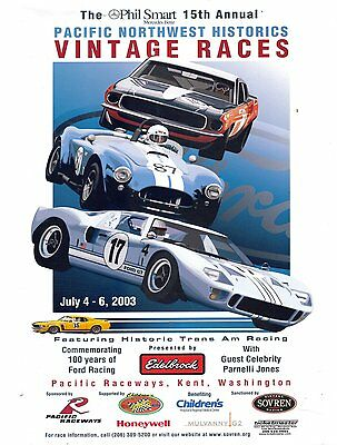 Pacific Northwest Historics Vintage Racing Program 2003 Seattle Washington