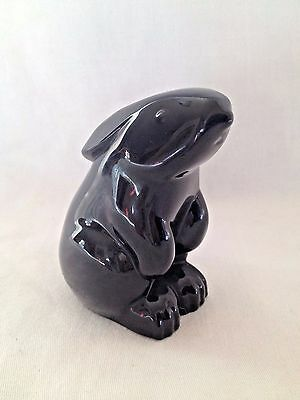 Baccarat Art Glass Crystal Rabbit Bunny Figurine Paperweight France Black