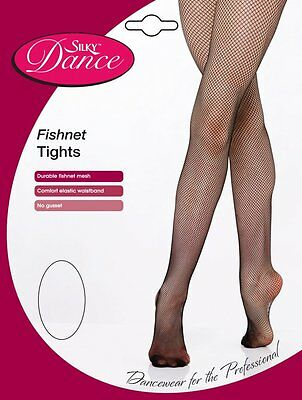 Silky Dance Essentials Fishnet Ballet Tights Black/Tan Small Medium Large XL