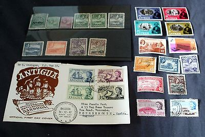 Antigua Mint & Fine Used Stamp Sets & First Day Cover, Good Selection.