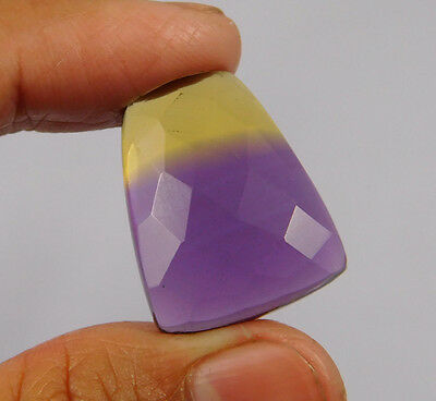 21 Cts. Treated Faceted Ametrine Cut Loose Cabochon Gemstone (NH978)