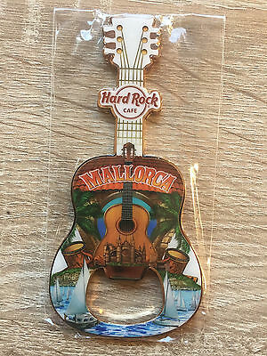 Hard Rock Cafe Mallorca Guitar Bottle Opener Magnet !! Awesome!