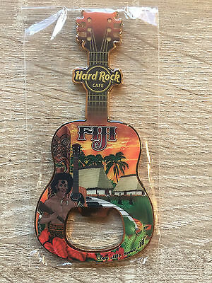 Hard Rock Cafe Fiji Guitar Bottle Opener Magnet !! Awesome!