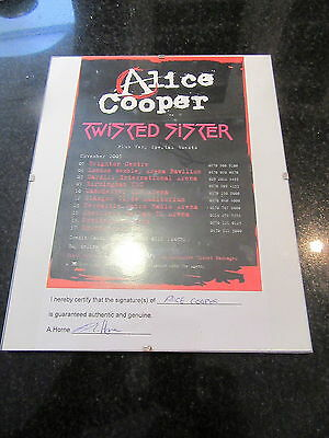Alice Cooper Rare Signed 2005 Uk Tour Flyer (Certified)