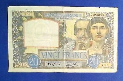 FRANCE: 1 x 20 Francs Banknotes Very Fine Condition