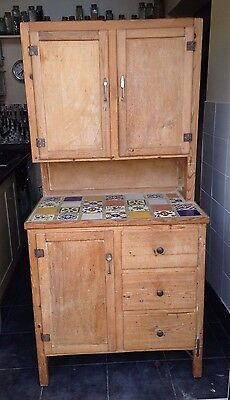 Pine Dresser With Tiled Top