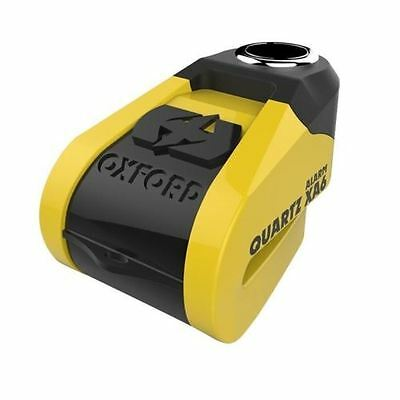 Oxford Alpha XA6 Motorcycle Scooter Disc Lock Alarm 6mm Pin Black Yellow Secure