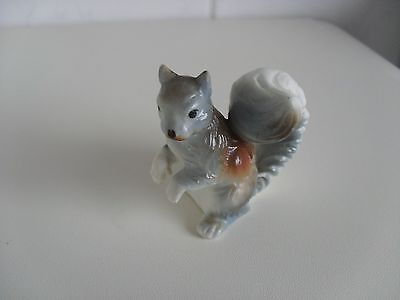 "Vintage Miniature Squirrel""Handpainted ""App 2 inch tall &1&threequarter across ."