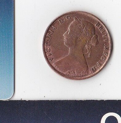 United Kingdom - Great Britain - England - HM Queen Victoria - Half Penny - 1861