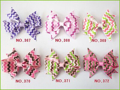 "50 BLESSING Good Girl Custom Boutique 3.5"" Mermaid Hair Bow Clip #420 Wholesale"
