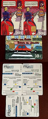 Lot de 3 Paris Cartes - Cartes de stationnement - Parking - Horodateur