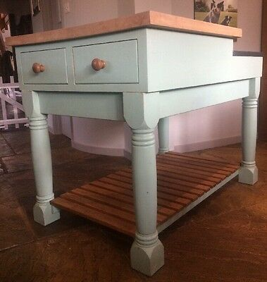 Handmade kitchen Island / Butchers block / Kitchen Unit with drawers