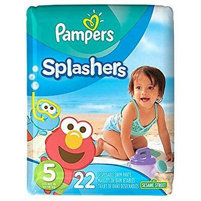 Swim Diapers Baby Pool Infant Toddler Pampers Slashers Disposable Size 5 22 ct
