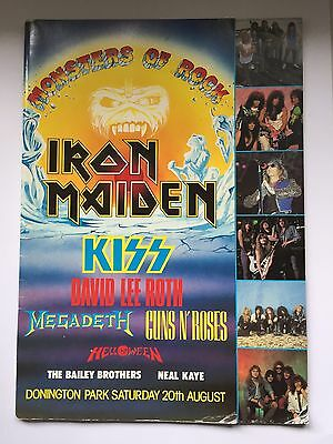Monsters Of Rock 1988 Programme. Iron Maiden, Kiss, David Lee Roth, Megadeth