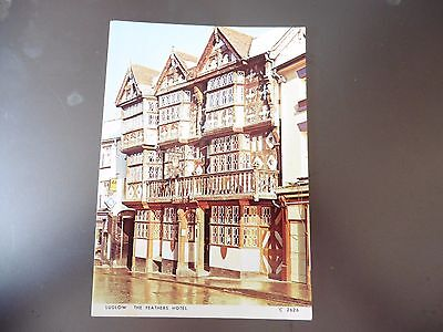 Postcard The Feathers Hotel Ludlow