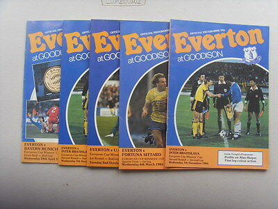 4 Everton Programmes - Cup Winners Cup 1984/85