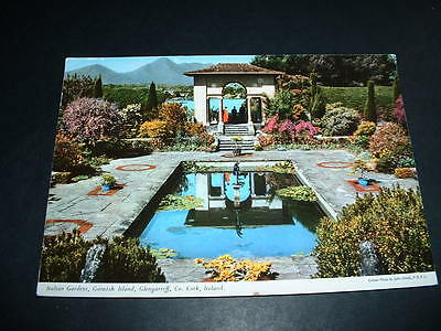 IRISH  POSTCARD  ITALION GARDENS GLENGARRIFF Co CORK  IRELAND (C 5