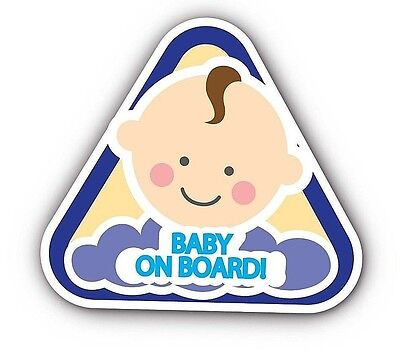 LOT OF 2 Baby On Board  Window Bumper Warning Safety Car Sign Decal Sticker