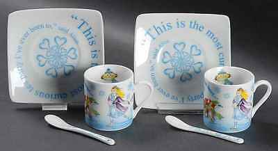 Cardew Design ALICE IN WINTERLAND Set Of 2 Demi Cup & Saucer With Spoon 9060202
