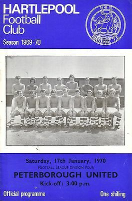 HARTLEPOOL v PETERBOROUGH 1969/70 DIVISION 4