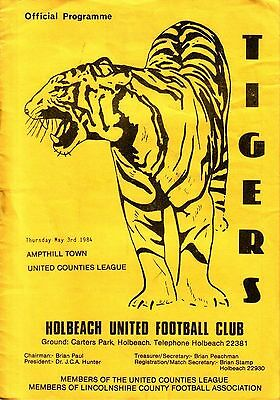 HOLBEACH UTD v AMPTHILL TOWN 1983/84 UNITED COUNTIES LEAGUE
