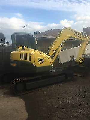 7.5 Ton Yanmar Excavator Only 2300hrs!!! Swap For Posi Track Bobcat