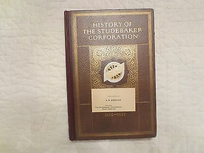 "Vintage 1924 ""History of the Studebaker Corporation"" Book A. R. Erskine Card"