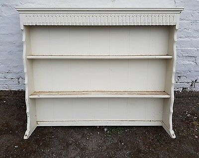 Nice old wooden shabby chic dresser top plate rack