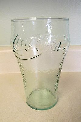 """Coca-Cola Coke Large Green Embossed Glass 7"""" X 4""""!"""