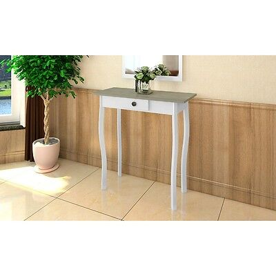 S# New White Console Hall Side Table Bedside 1 Drawer French Furniture Provincia