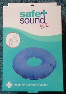 Safe + Sound Health Inflatable Comfort Cushion - Colour Navy Blue