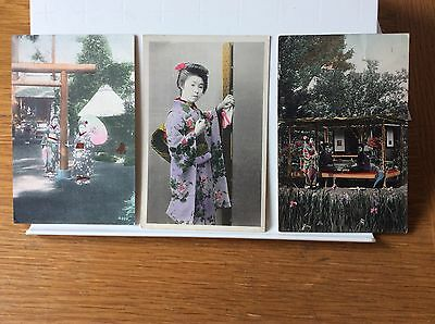 Japanese postcards x 3 1912.