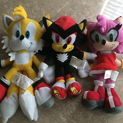 Sonic the Hedgehog Plush Doll Collection (Shadow, Tails, Amy Rose) Toy Network